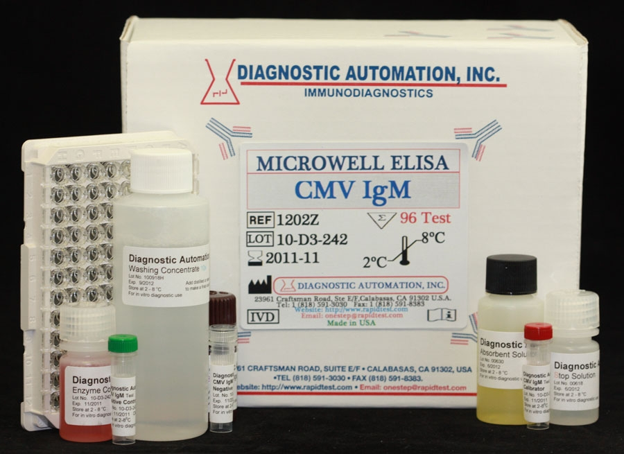 Cytomegalovirus IgM (CMV IgM) ELISA kit