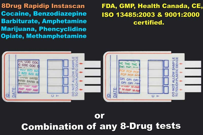 8-Panel Drug Test (Strip) (Any Drug Combination)