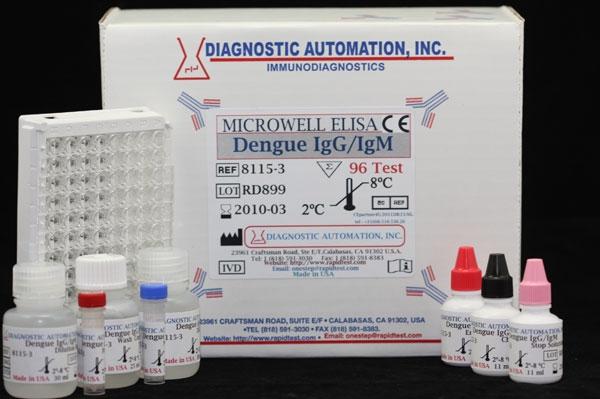 Dengue IgG/IgM ELISA kit  CE-GMP  818-5913030, USA