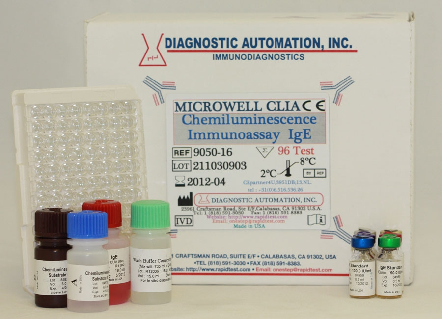 IgE CLIA kit - (Chemiluminescence Immuno Assay)