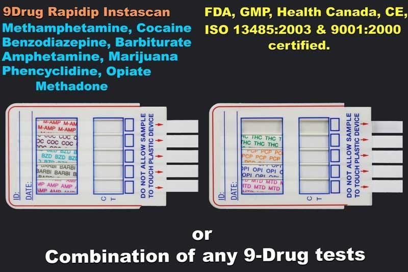 9 Panel Drug Test 9 Drug Test Ce Gmp 818 591 3030 Usa