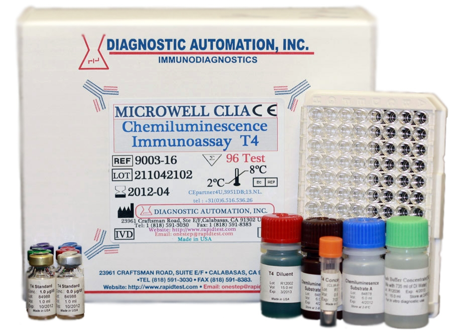 T4 CLIA kits - (Chemiluminescence Immuno Assay)