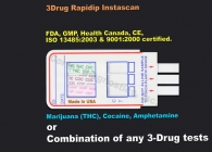 3-Panel Drug Test (Strip) (AMP, MOR, THC)