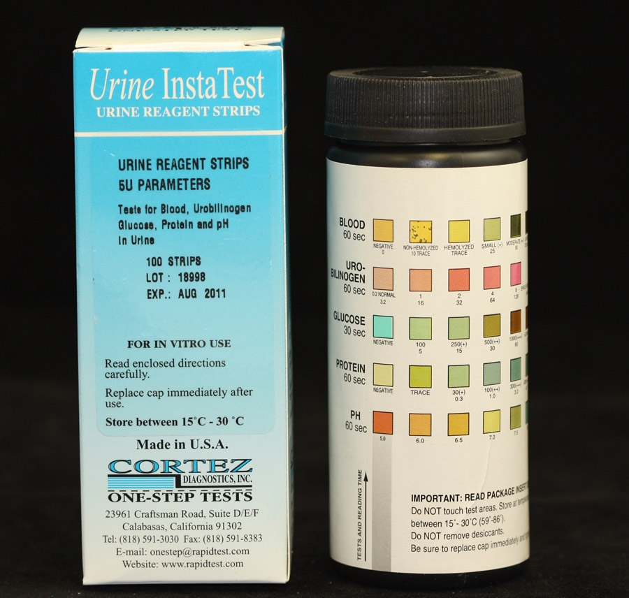 Urine Reagent Strip (Blood-Urobilinogen-Glucose-Protein-pH)