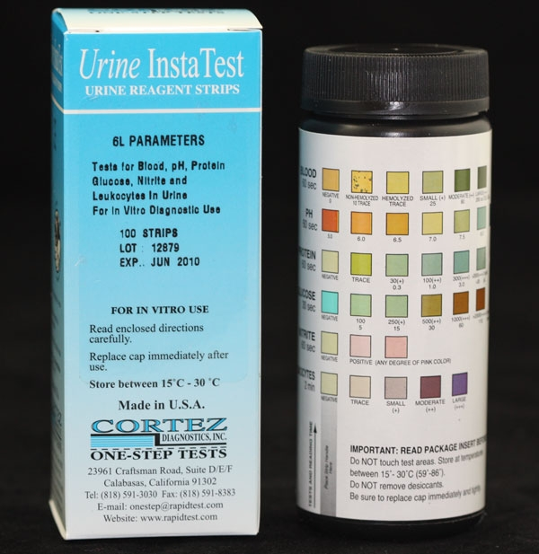 Urine Reagent Strip(Blood-Ketone-Glucose-Protein-Leukocyte-Bilirubin)